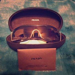Prada Wraparound Shield Sunglasses